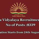 Kendriya Vidyalaya Recruitment 2018