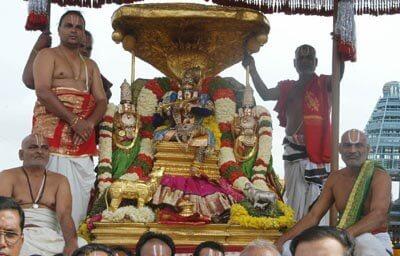 Kalpavriksha-కల్పవృక్ష వాహనం పై దర్శనమిస్తున్న స్వామివారు